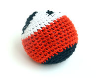 Hacky sack on white background. Red, black and white hacky sack on white background Stock Image
