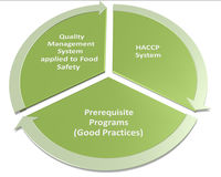 Hacp qms gmp and food safety program. Reletionship Royalty Free Stock Photography