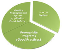Hacp qms gmp and food safety program. Reletionship Royalty Free Stock Photo