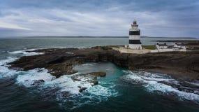 Haczyk Kierownicza latarnia morska Wexford Irlandia zdjęcia royalty free