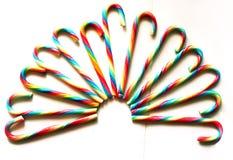 Haczyk tęczy cukierki odizolowywający na białym bacground Fotografia Stock