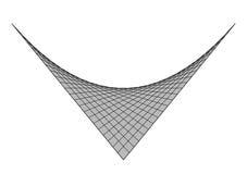 Haczykowatego nawierzchniowego czarnego linii białego tła popielaty wielobok poligonalny Zdjęcie Royalty Free