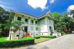 Green wooden house,the historical place of Phrae,Thailand Royalty Free Stock Image