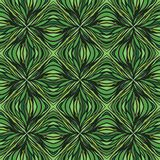 Had drawn linear green vector pattern. Seamless natural organic ecological background for package or wrapping Royalty Free Stock Photos