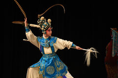 """Had fastened mine eyes- Beijing Opera"""" Women Generals of Yang Family"""". This opera tells a patriotic story how does an old woman of a hundred years Royalty Free Stock Photography"""