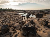 Had hin see at Ubonratchathani, Thailand Grand Canyon. Rocky beach at Sampan-bok in Ubonratchathani, Thailand Grand Canyon royalty free stock photography