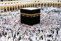 hadża kaaba makkah muslims Obrazy Royalty Free