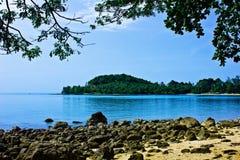 Had sai ree beach. A beach is beautiful,     a sea green water,   the sky is blue, a cloud  white Stock Photography