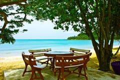 Had sai ree beach chum phon. A beach is beautiful,     a sea green water,   the sky is blue Stock Photography