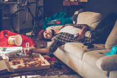 He had too much beer. royalty free stock images