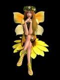 Hada amarilla CA de la margarita stock de ilustración