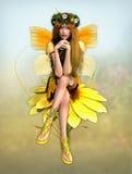 Hada amarilla de la margarita ilustración del vector