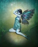 Hada azul, 3d CG Imagenes de archivo