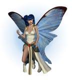 Hada azul de la mariposa ilustración del vector