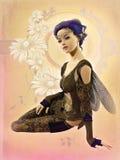 Hada con el pelo púrpura, 3d CG Imagen de archivo