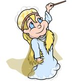Hada con la varita mágica Imagen de archivo