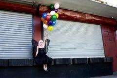 Hada con los globos Imagen de archivo