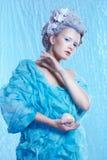 Hada congelada con la manzana Fotografía de archivo