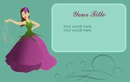 Hada de la flor en tarjeta Foto de archivo libre de regalías