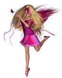 Hada de la mariposa - colores de rosa brillantes Imagen de archivo libre de regalías