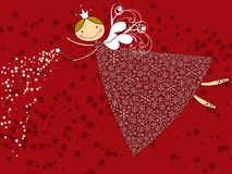 Hada de la Navidad del copo de nieve Foto de archivo