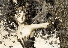 Hada de la primavera en jardín de la fantasía Fotos de archivo libres de regalías