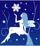 Hada del invierno del vector Foto de archivo libre de regalías