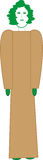 Hada del pino stock de ilustración