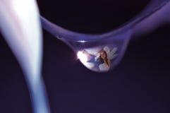 Hada en una gotita de agua Fotografía de archivo
