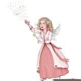 Hada feliz con la vara mágica Imagen de archivo