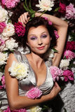 Hada hermosa de flores Fotografía de archivo libre de regalías