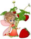 Hada linda de la fresa de Toon Fotografía de archivo