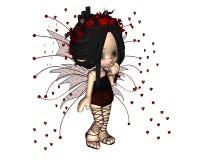 Hada linda de la tarjeta del día de San Valentín de Toon - 1 Fotografía de archivo