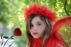 Hada roja Imagenes de archivo