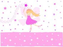 Hada rosada de la estrella Foto de archivo libre de regalías
