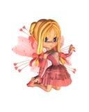 Hada rosada de la tarjeta del día de San Valentín de Toon - 2 Fotografía de archivo libre de regalías