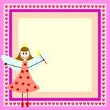 Hada rosada en marco Fotos de archivo