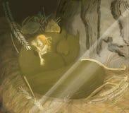 Hada soñolienta Imágenes de archivo libres de regalías