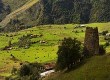 Hada village. Caucasus, Georgia. Royalty Free Stock Photos