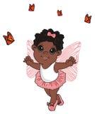 Hada y mariposas del Afro libre illustration