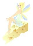 Hada y pedazo de queso Imagen de archivo