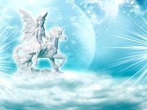 Hada y unicornio Imágenes de archivo libres de regalías