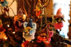 Hadas ideales en las lanas coloreadas Imagen de archivo