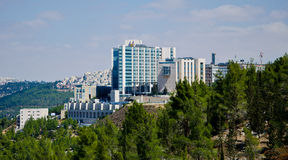 Hadassah hospital. View of Hadassah medical center in Ein Kerem,Jerusalem Israel Stock Images