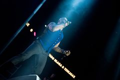 Haddaway performing live during a disco party Stock Photos