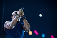 Haddaway performing live during a disco party Royalty Free Stock Photography