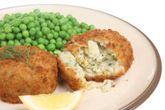 Haddock Fishcakes Royalty Free Stock Photos