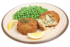 Haddock Fishcakes Stock Photo