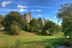 Haddon Hall And Trees Royalty Free Stock Image
