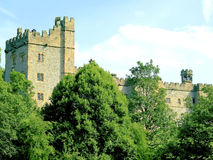 Haddon Hall, Bakewell, Derbyshire. Haddon Hall is an English country house on the River Wye at Bakewell, Derbyshire and as been used for many film sets, such as Royalty Free Stock Images